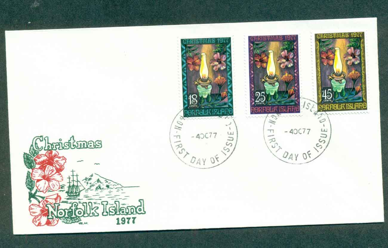 Norfolk Is 1977 Xmas FDC lot51595