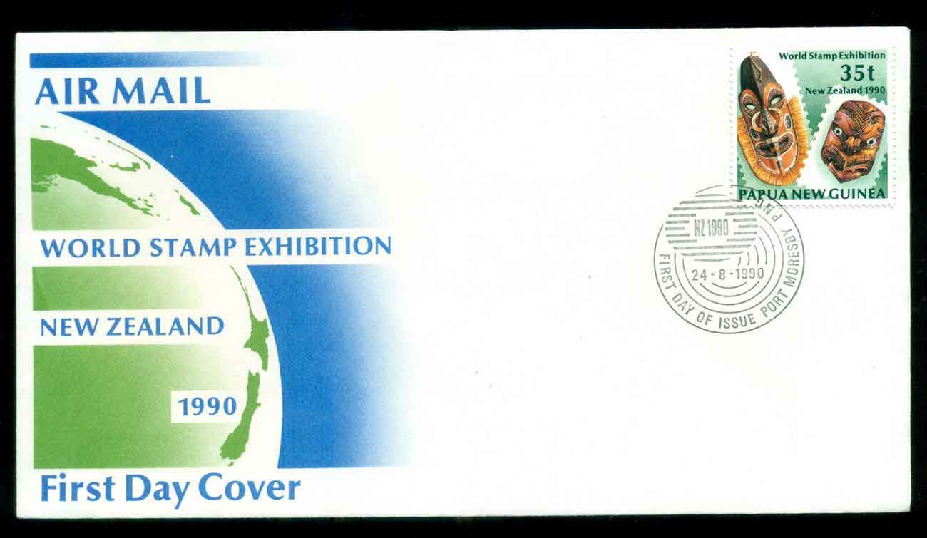 PNG 1990 World Stamp Ex 35t FDC lot51640