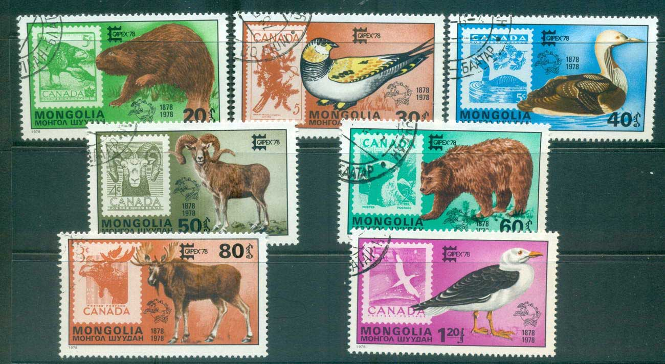 Mongolia 1978 Wildlife on Stamps CAPEX CTO lot56009