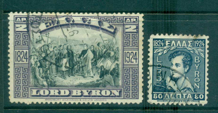 Greece 1924 Death of Lord Byron FU lot56146