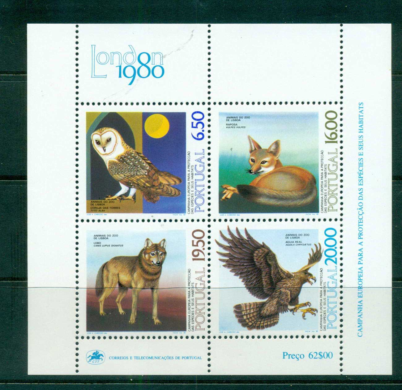 Portugal 1980 Protection of Species MS MUH lot57486