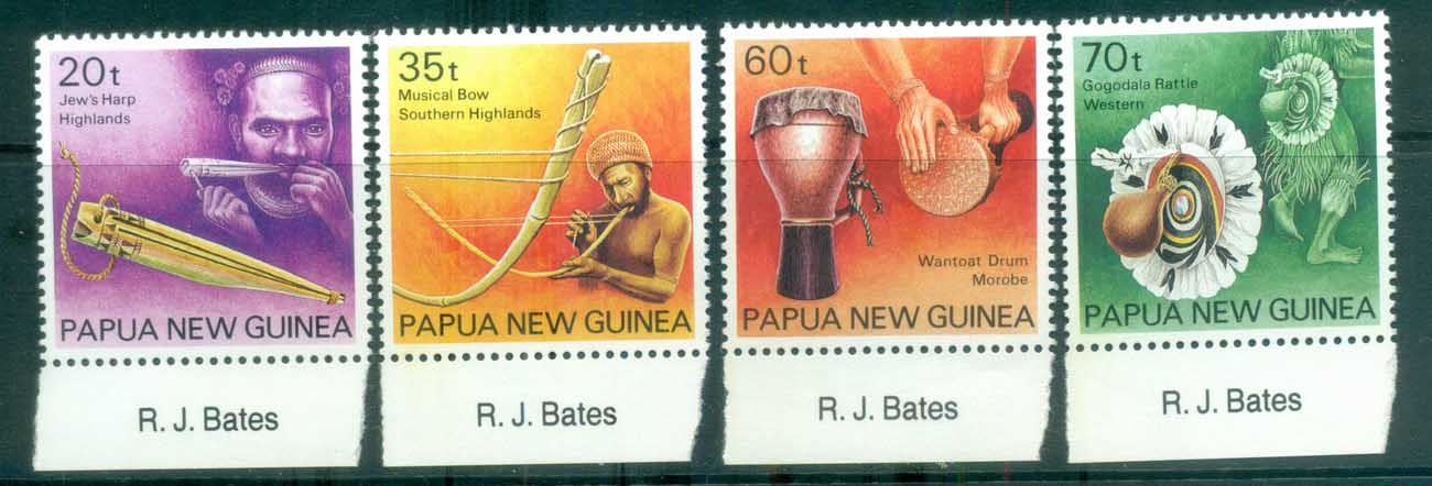 PNG 1990 Musical Instruments MUH lot79118