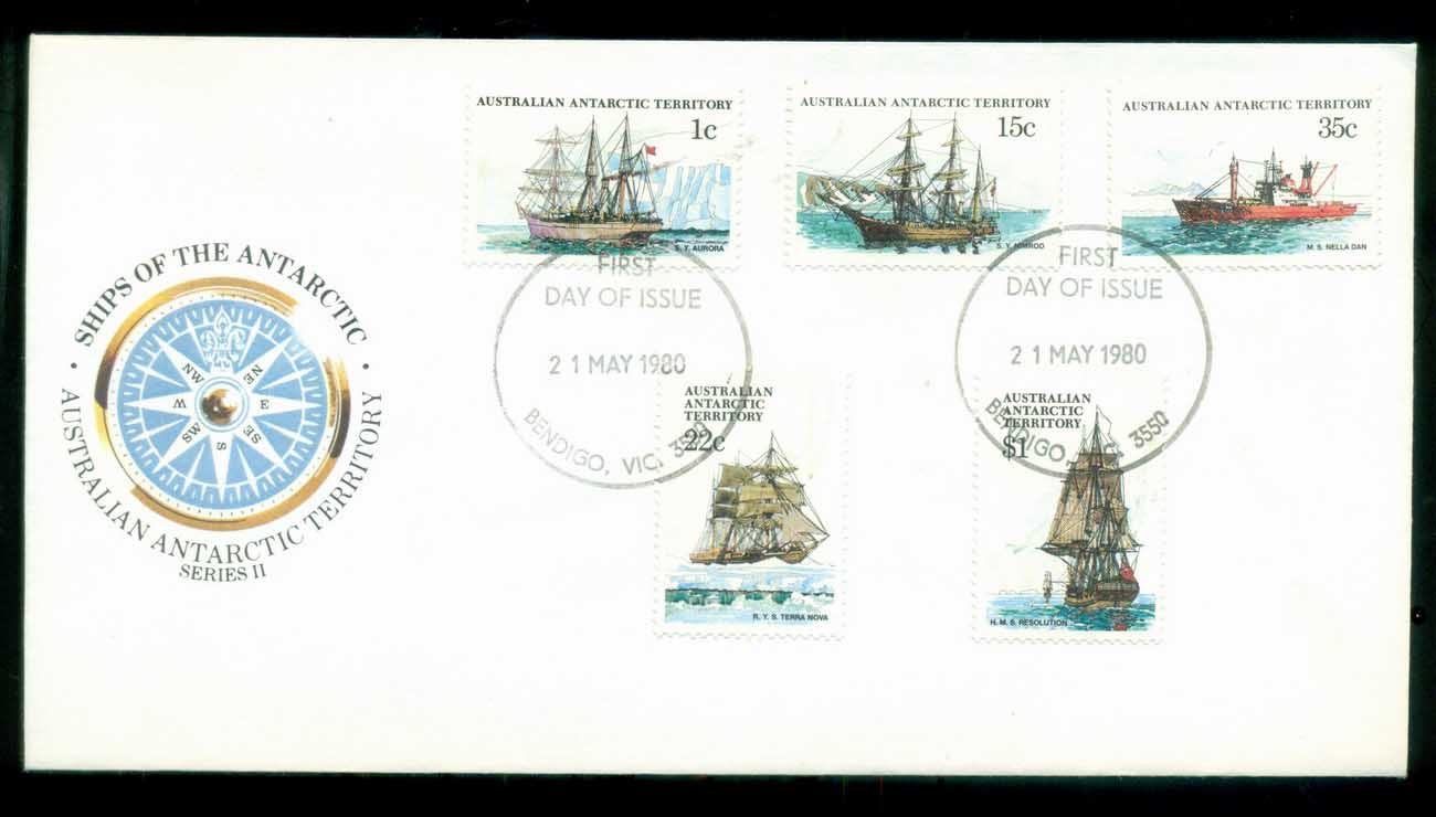 AAT 1980 Ships I, Bendigo Vic FDC lot79709