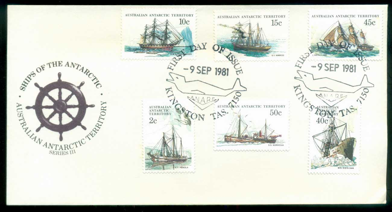 AAT 1981 Ships III (6), Kingston TAS FDC lot79728
