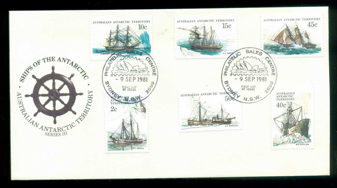 AAT 1981 Ships III (6), Sydney Philatelic Sales FDC lot79731