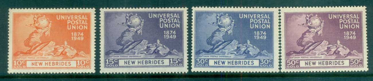 New Hebrides (Br) 1949 UPU MLH lot81390