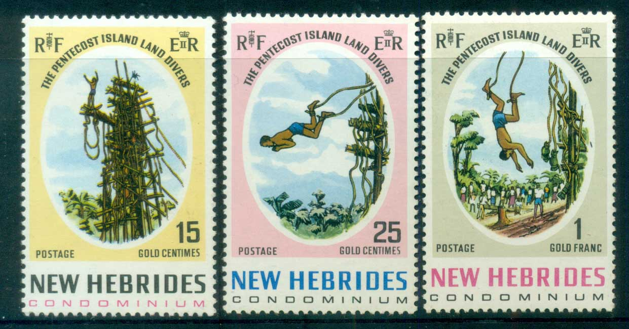 New Hebrides (Br) 1969 Pentecost Land Divers MUH lot81396
