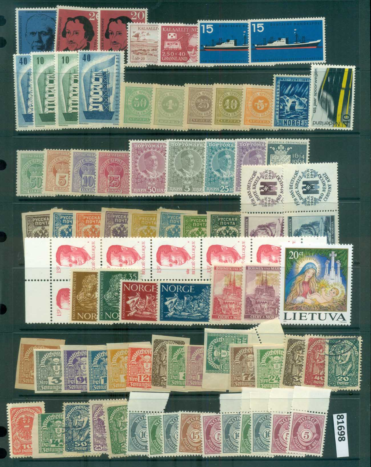 Europe 1930's on Assorted oddments mostly mint(3 scans) MUH/MH/FU lot81698