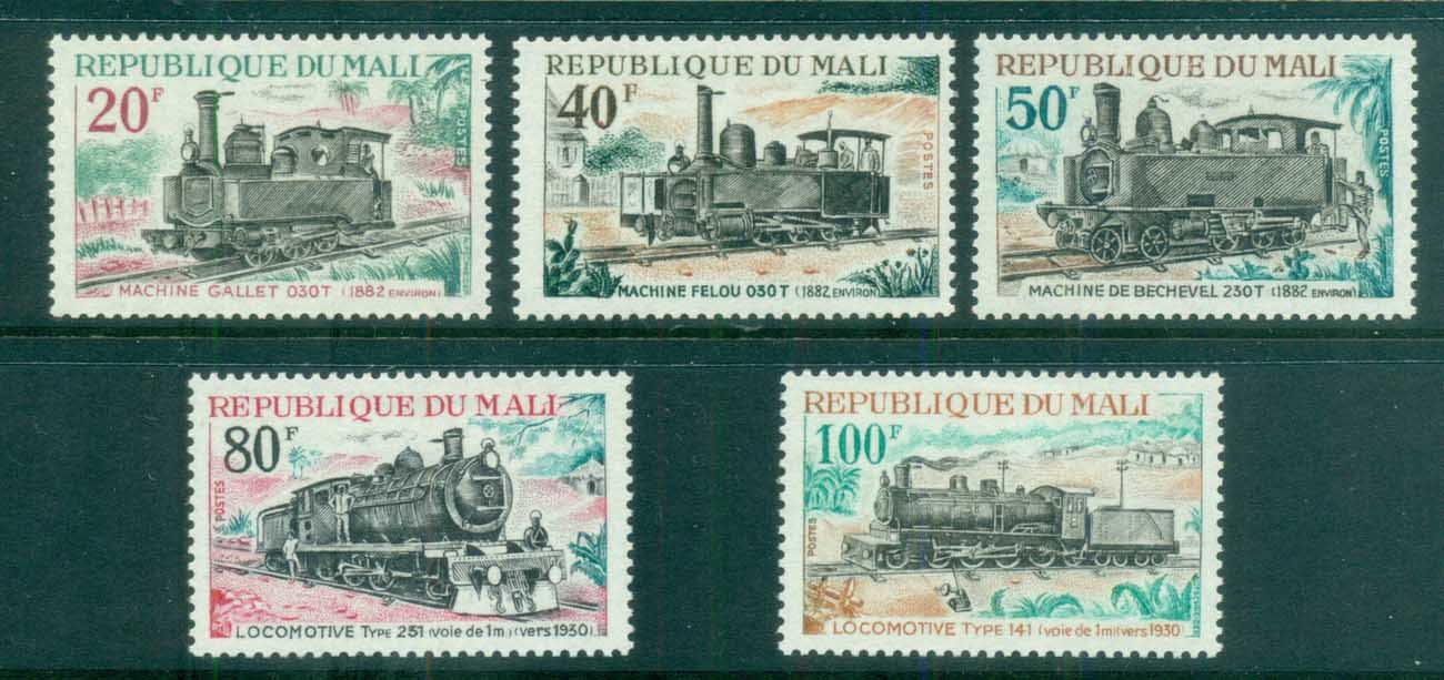 Mali 1970 Old Steam Trains MUH