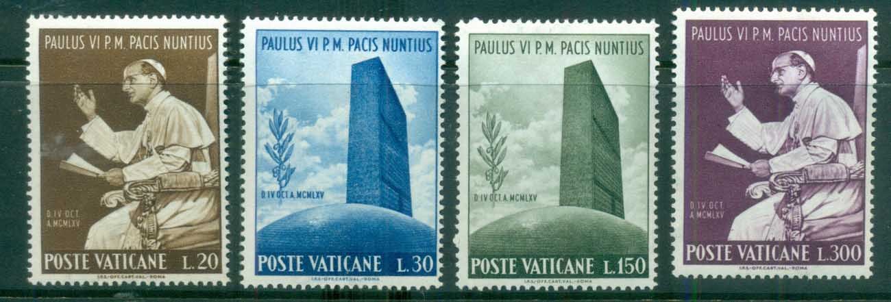 Vatican 1965 Visit of Pope Paul VI to UN MUH