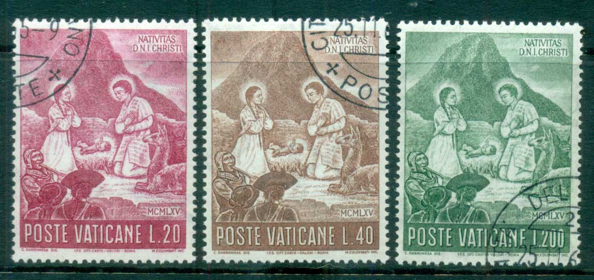 Vatican 1965 Xmas Nativity CTO