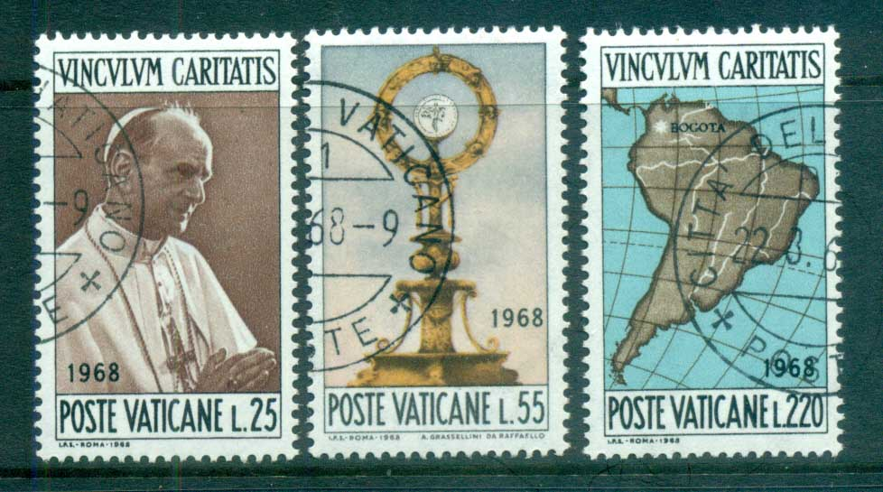 Vatican 1968 Visit of Pope Paul VI to Bogota CTO