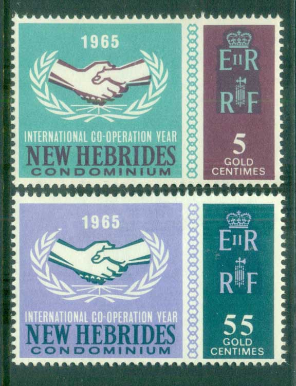 New Hebrides (Br) 1965 ICY Intl. Cooperation Year MUH