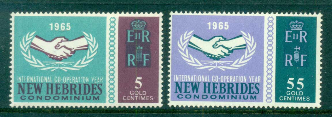 New Hebrides (Br) 1965 ICY Intl. Cooperation Year MLH