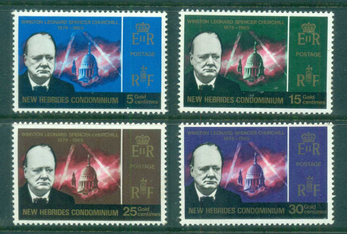 New Hebrides (Br) 1966 Winston Churchill MUH