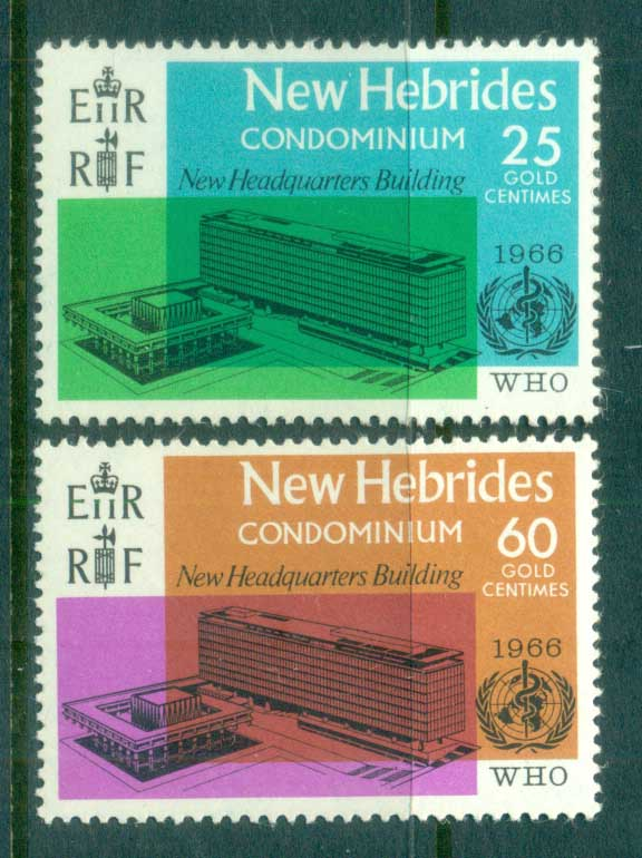 New Hebrides (Br) 1966 WHO Headquarters MLH