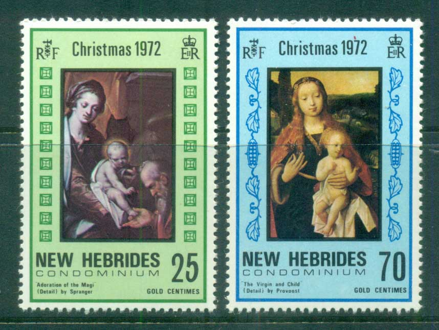 New Hebrides (Br) 1972 Xmas Nativity MUH
