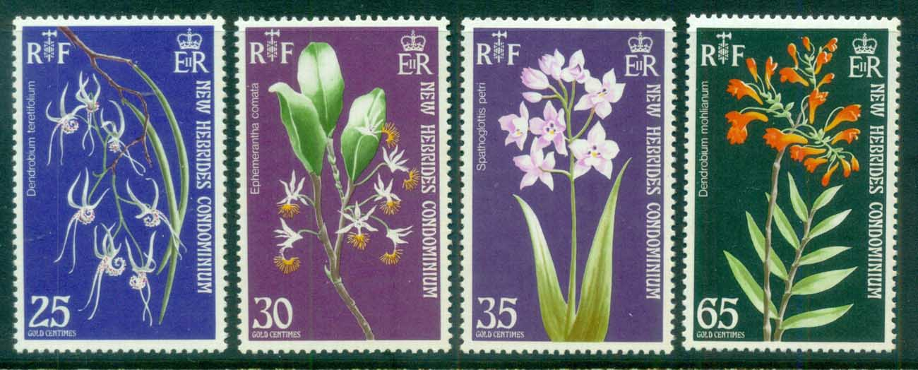 New Hebrides (Br) 1973 Flowers, Orchids MUH