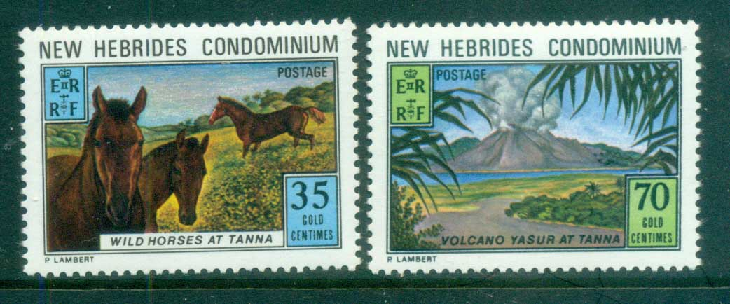 New Hebrides (Br) 1973 Tana Is, Volcano, Wild Horses MUH
