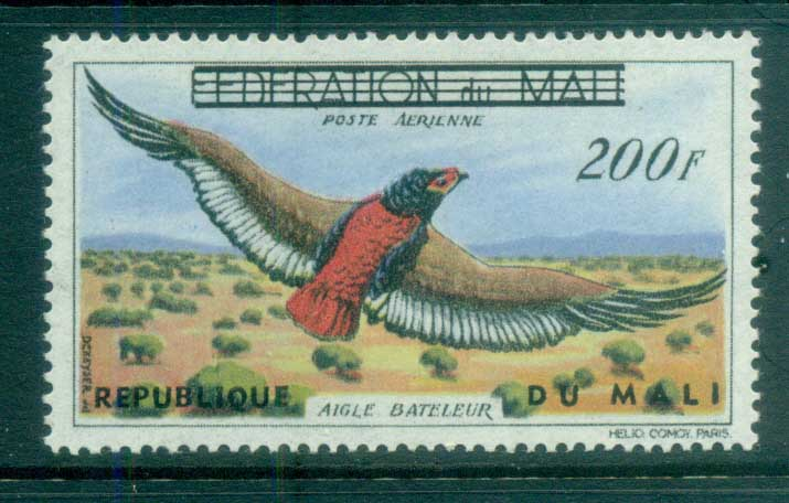 Mali 1960 Birds, Eagle 200fr Opt MLH