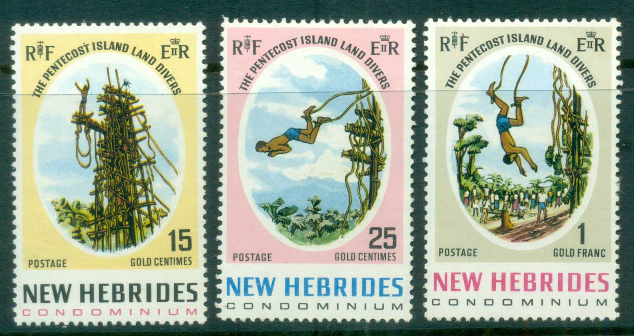 New Hebrides (Br) 1969 Land Divers of Pentecost Is MLH