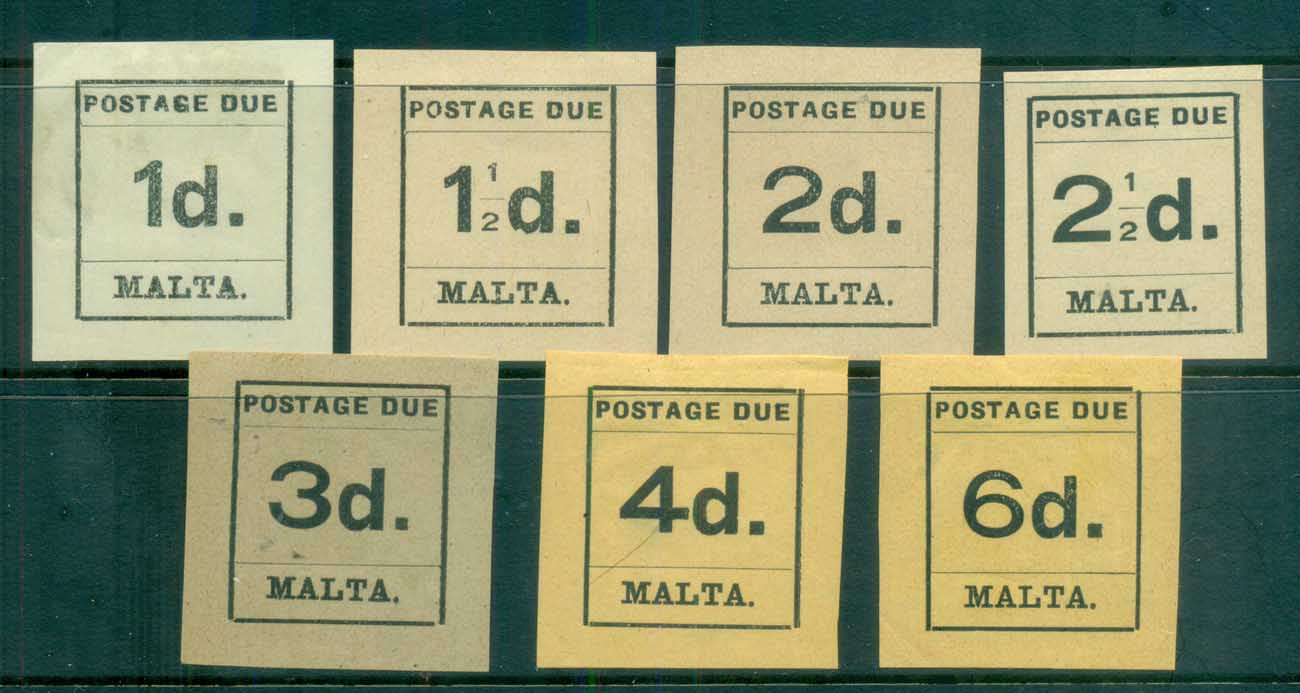 Malta 1925 Postage Dues Asst MLH