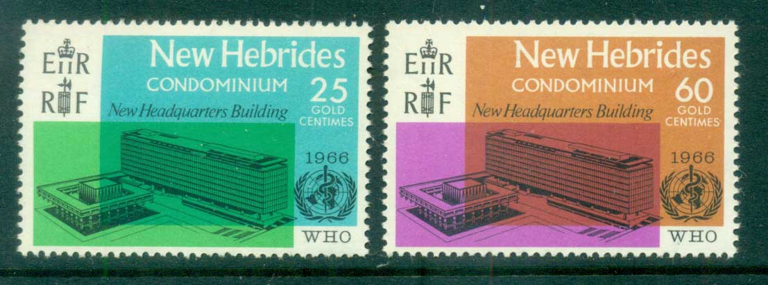 New Hebrides (Br) 1966 WHO Headquarters, Geneva MUH