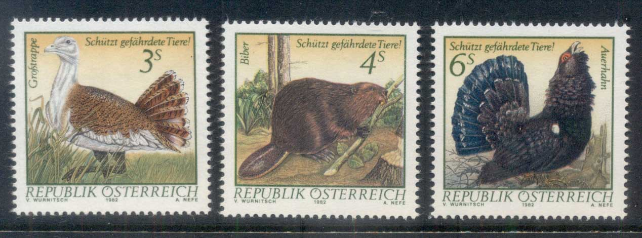 Austria 1982 Protected Species Birds MUH