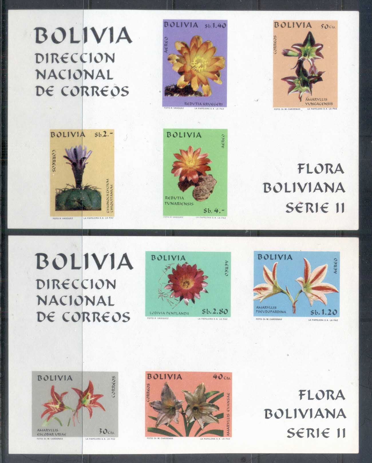 Bolivia 1971 Bolivian Flora Series II IMPERF 2xMS MUH