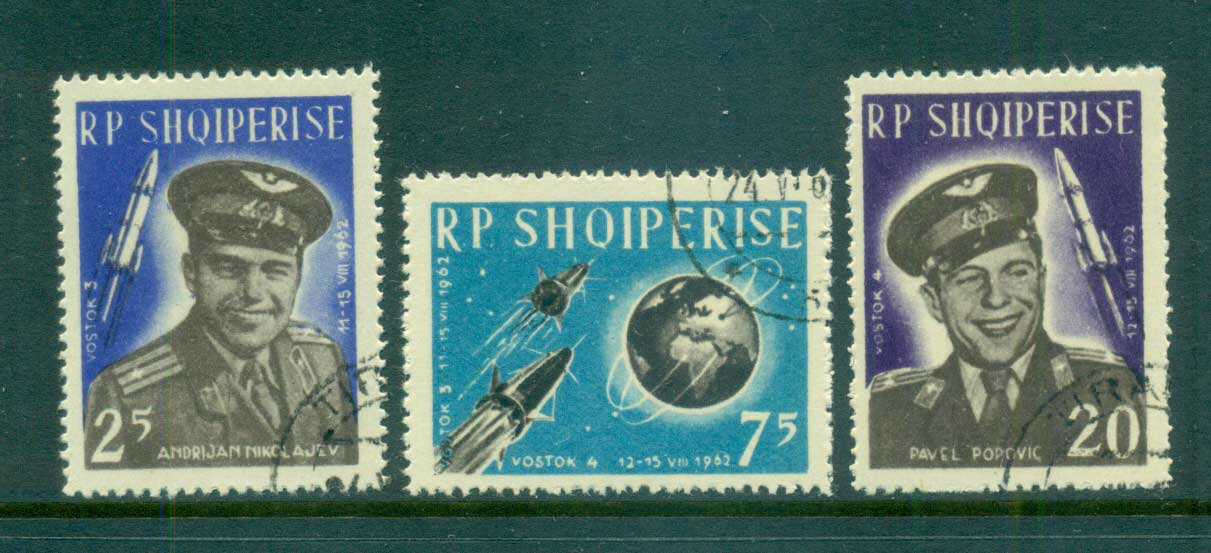Albania 1963 Space Flight, Vostok 3 & 4 CTO lot69475