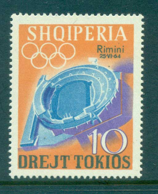 Albania 1964 Rimin Opt on 10l MUH lot69495