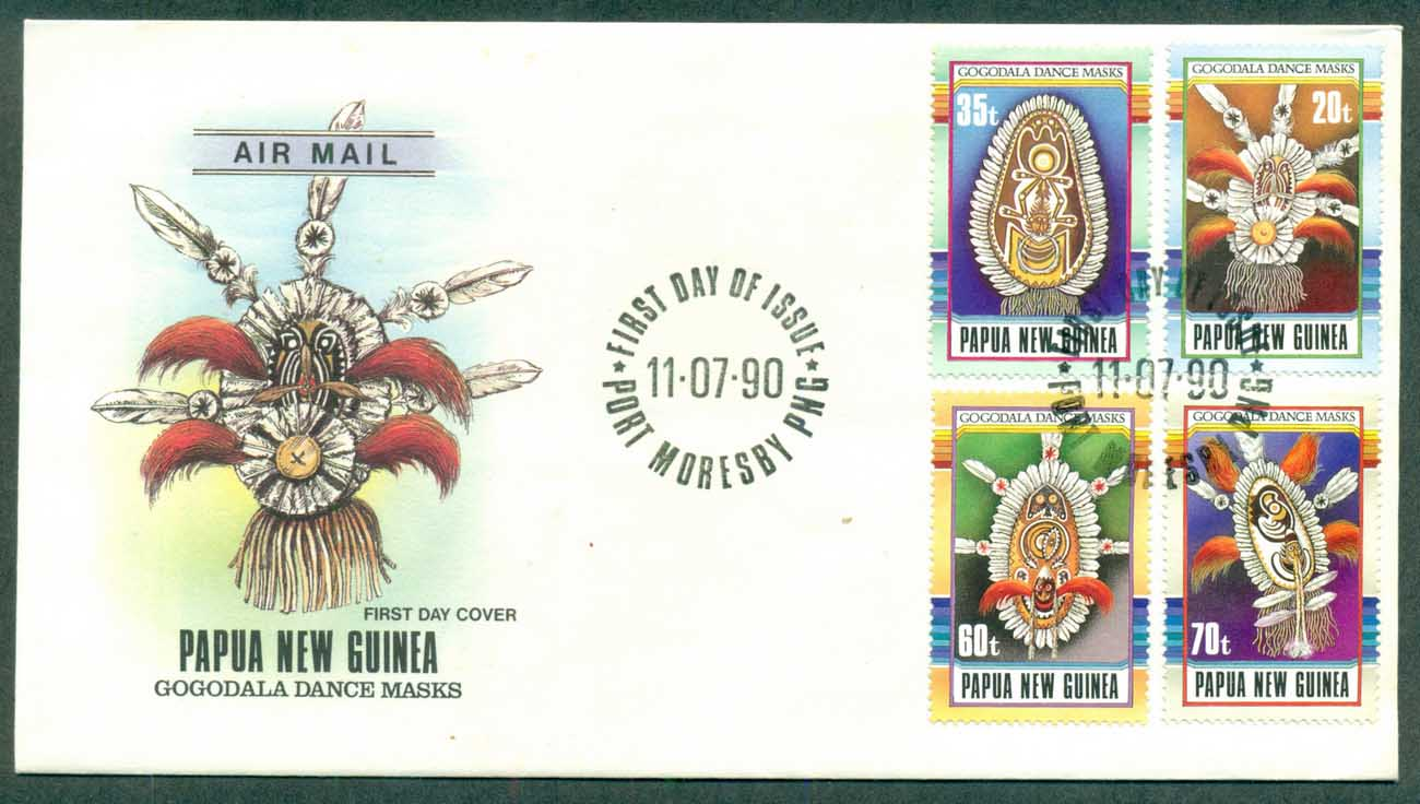 PNG 1990 Artifacts FDC lot70762