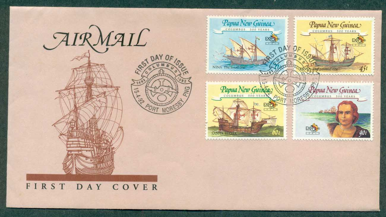 PNG 1992 Columbus FDC lot70766