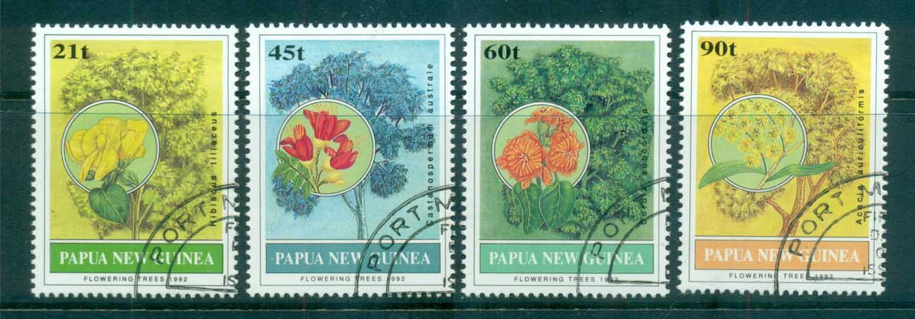 PNG 1992 Flowering Trees CTO lot71158