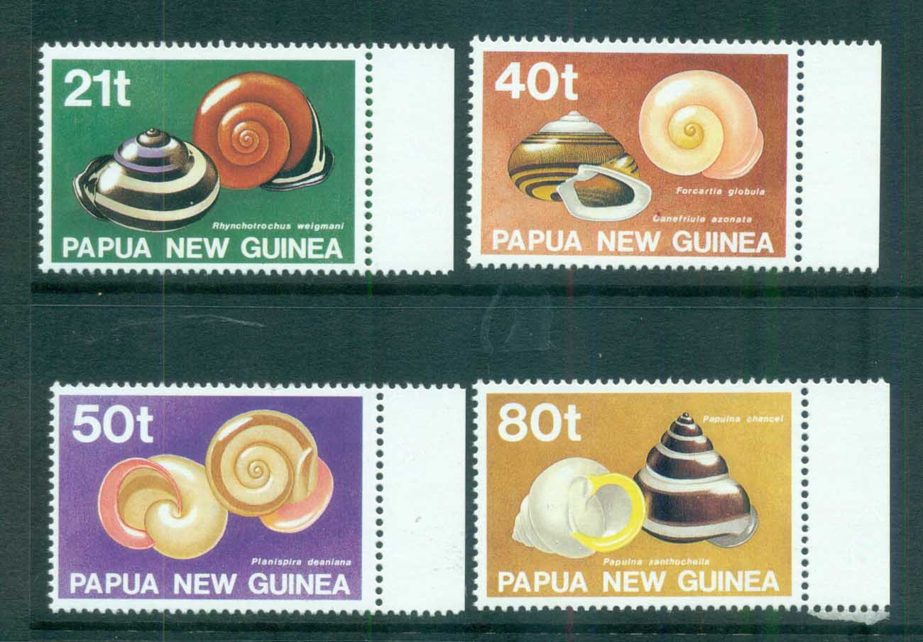 PNG 1991 Snail Shells MUH lot71231