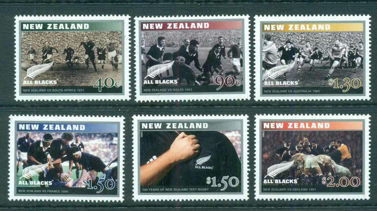 New Zealand 2003 Rugby Test centenary MUH lot71653