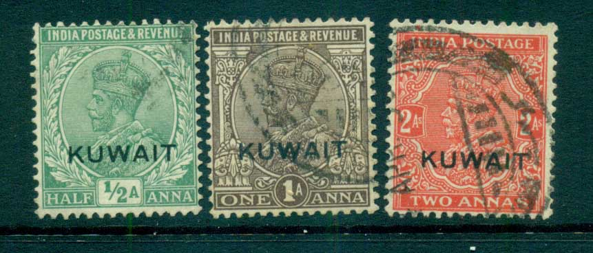 Kuwait 1929-37 KGV india Opts Wmk Multi Star AsstFU lot73733