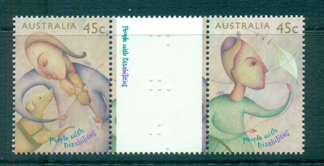 Australia 1995 Disabilities gutter pair MUH lot63505