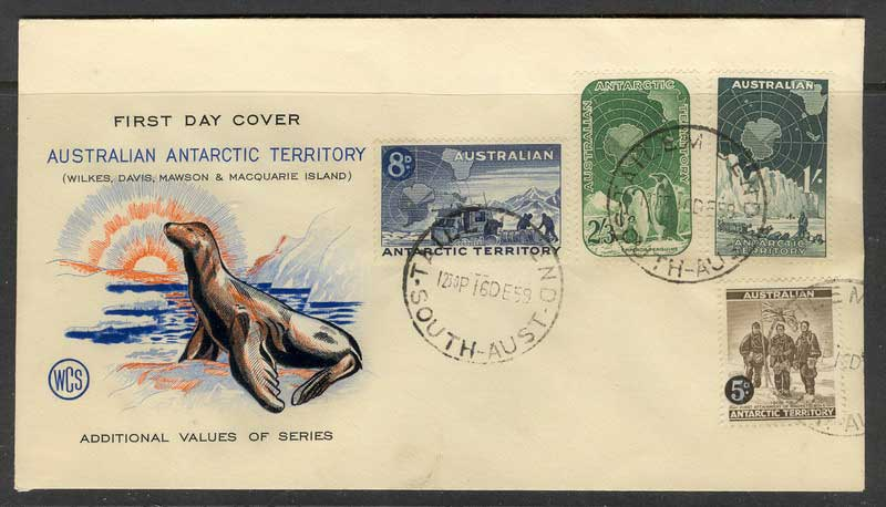AAT 1959 FDC Tailem Bend Cancell Lot10211