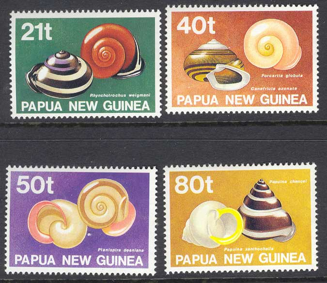 PNG 1991 Snail Shells MUH Lot10289