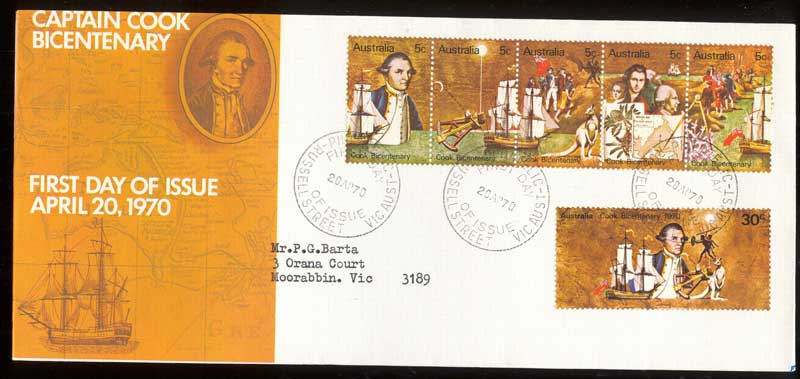 Australia 1970 Cook Bicentenary FDC Lot13639