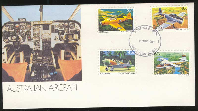 Australia 1980 Aircraft, South Yarra FDC Lot13688