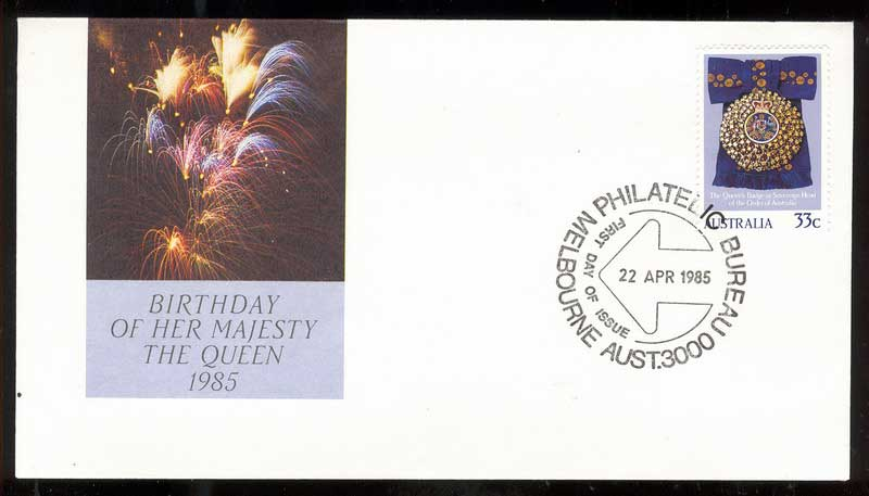 Australia 1985 Queens Birthay FDC Lot14033