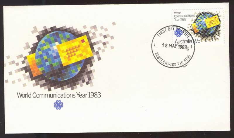 Australia 1983 World Communications FDC Lot14092