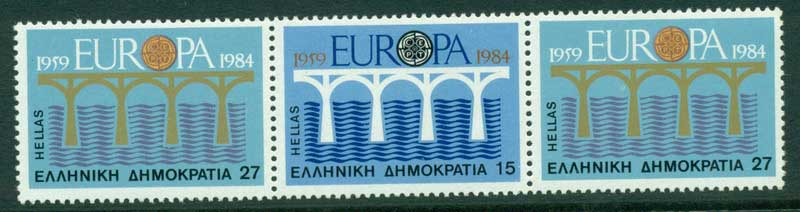 Greece 1984 Europa Strip 3 MUH Lot15410