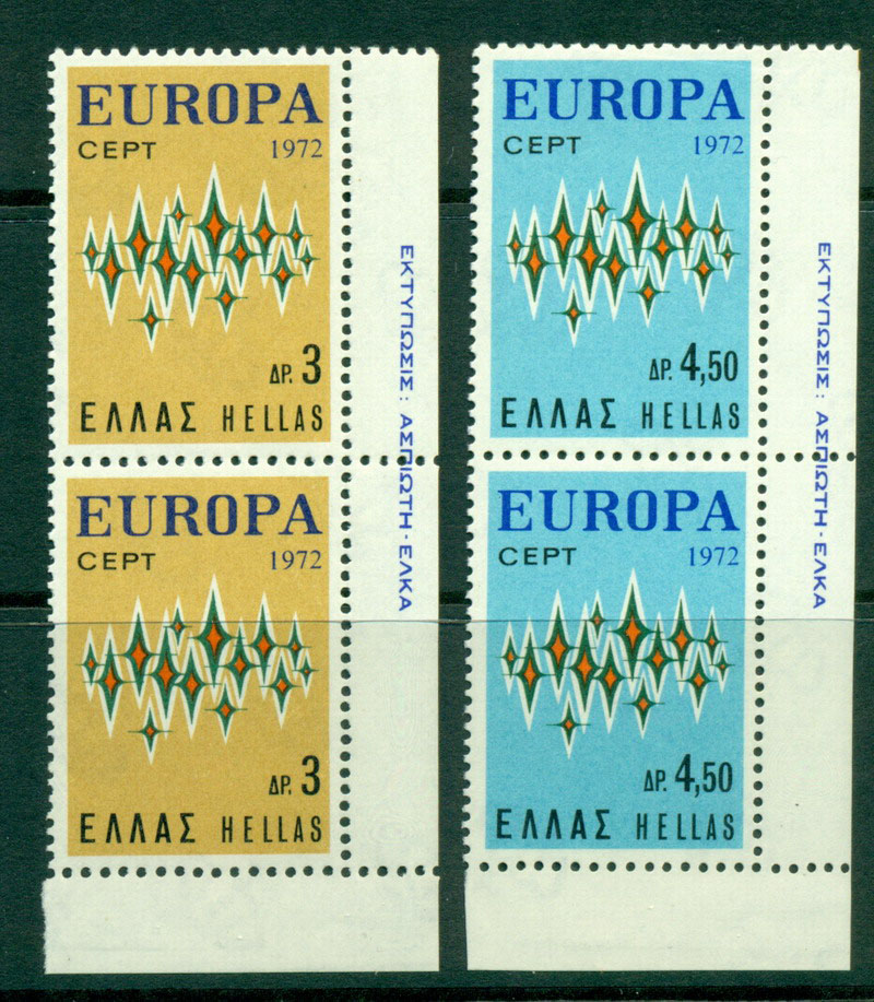 Greece 1972 Europa pair MUH Lot16499