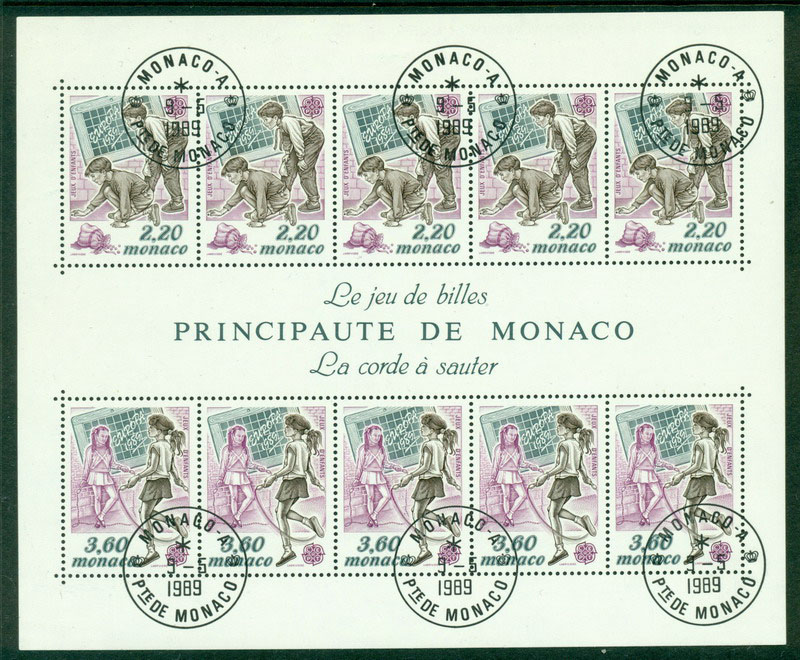 Monaco 1989 Europa MS FDI CTO Lot17612