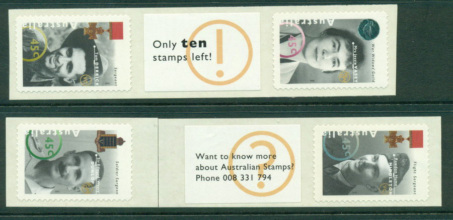 Australia 1995 Australia Remembers +labelPr P&S MUH Lot18531