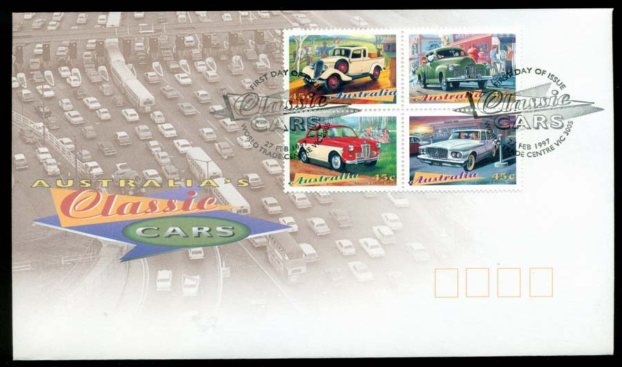 Australia 1997 Classic Cars Block, World Trade Centre FDC Lot19500
