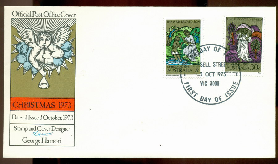 Australia 1973 Xmas- Russell St FDC Lot19992